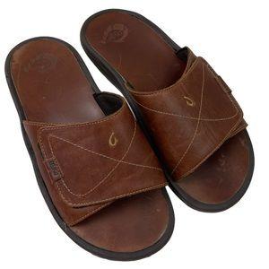 Olukai mens Ohana leather slides 11